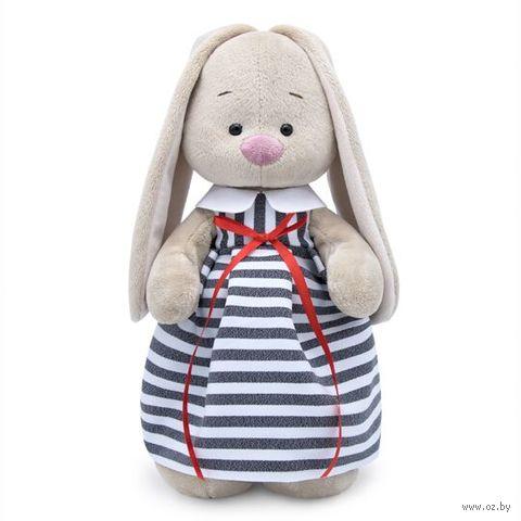 """Мягкая игрушка """"Зайка Ми в платье в полоску"""" (32 см) — фото, картинка"""