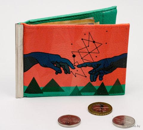 """Зажим для денег с монетницей """"Созвездия"""" — фото, картинка"""
