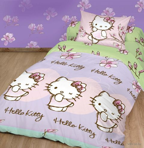 "Постельное белье ""Hello Kitty"" (полуторное; арт. HK 1551 83/1) — фото, картинка"
