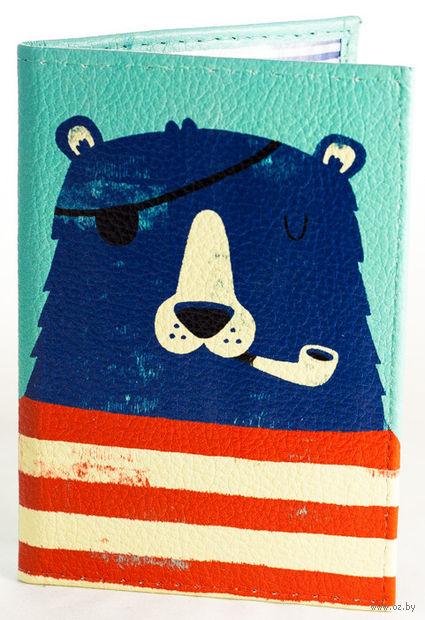 "Обложка на паспорт ""Мишка-капитан"" — фото, картинка"