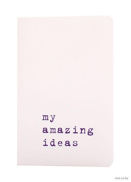 """Записная книжка Молескин """"Volant. My Amazing Ideas"""" в линейку (карманная; мягкая белая обложка)"""