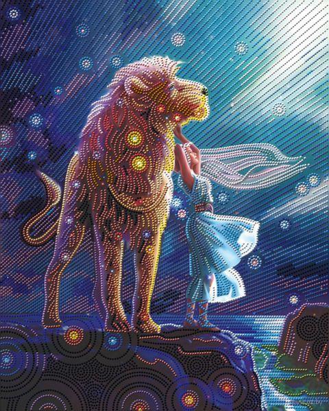 """Алмазная вышивка-мозаика """"Созвездие льва"""" (400х500 мм) — фото, картинка"""