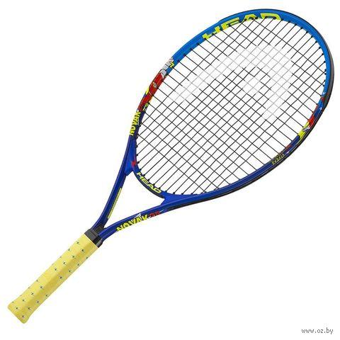 """Ракетка для большого тенниса """"Novak 21 Gr05"""" (сине-жёлтая) — фото, картинка"""