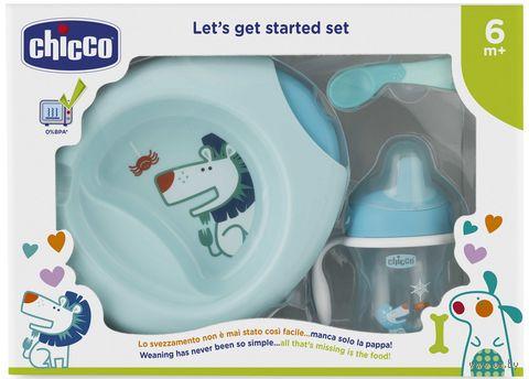 Набор посуды (поильник, ложка, термотарелка, тарелка; арт. 00016200200000) — фото, картинка