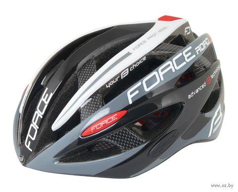 """Шлем велосипедный """"Road Pro"""" (черно-серо-белый; р. L-XL) — фото, картинка"""