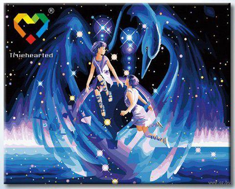 """Картина по номерам """"Близнецы"""" (400x500 мм; с люминесцентной краской; арт. YH4050003)"""