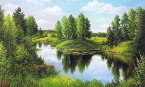 """Алмазная вышивка-мозаика """"Тихая река"""""""