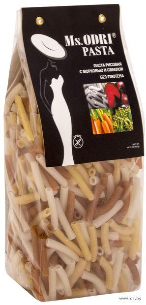 """Паста рисовая без глютена """"Ms.Odri. Пенне с морковью и свеклой"""" (400 г) — фото, картинка"""