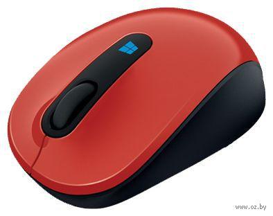 Беспроводная мышь Microsoft Mobile Mouse Sculpt Flame Red (43U-00026)