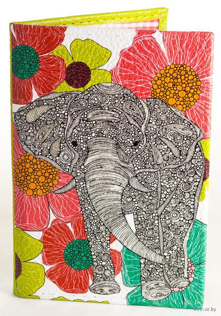 """Обложка на паспорт """"Слон"""" — фото, картинка"""
