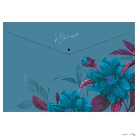 "Папка-конверт ""Night Illusion"" (А4; на кнопке)"