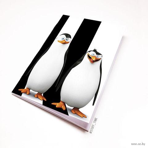"""Блокнот белый """"Пингвины Мадагаскара"""" А5 (405)"""