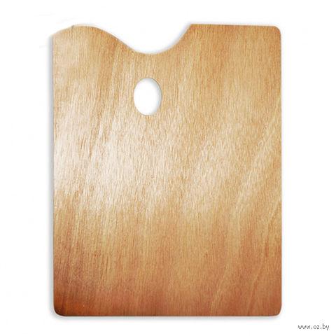 Палитра деревянная прямоугольная (30x40 см)