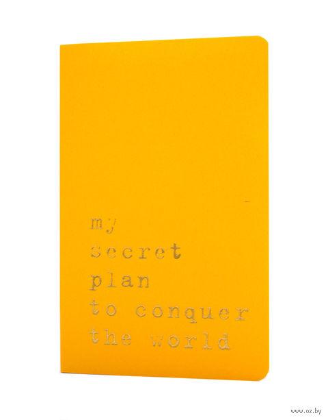 """Записная книжка Молескин """"Volant. My Secret Plan"""" в линейку (карманная; мягкая желтая обложка)"""