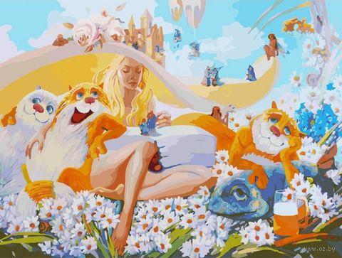 """Картина по номерам """"Блондинка"""" (600х800 мм) — фото, картинка"""