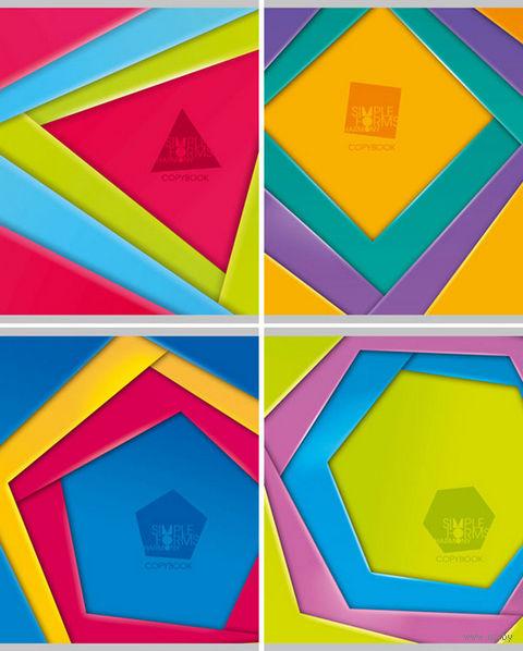 """Тетрадь в клетку """"Simple forms"""" 48 листов"""
