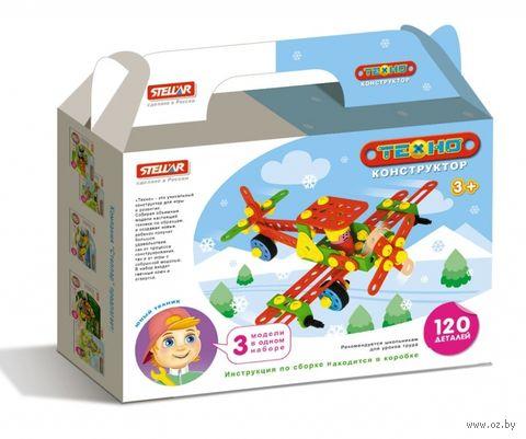 """Конструктор """"Техно. Самолет"""" (120 деталей) — фото, картинка"""