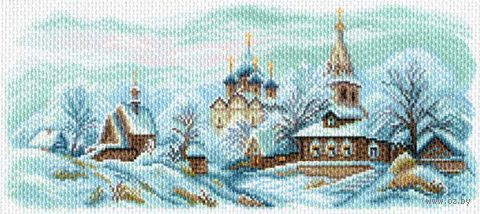 "Канва с нанесенным рисунком ""Зимний Суздаль"""