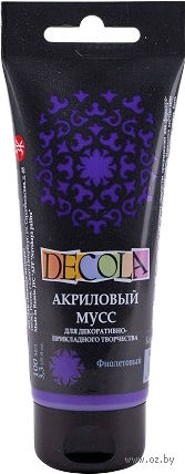 """Мусс акриловый """"Decola"""" (фиолетовый; 100 мл) — фото, картинка"""