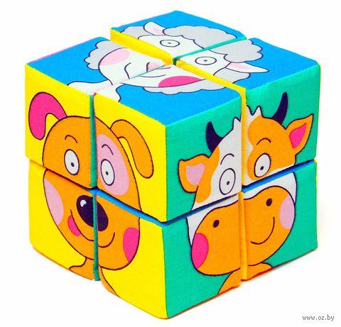 """Кубики мягкие """"Собери картинку. Зверята"""" (8 шт.) — фото, картинка"""