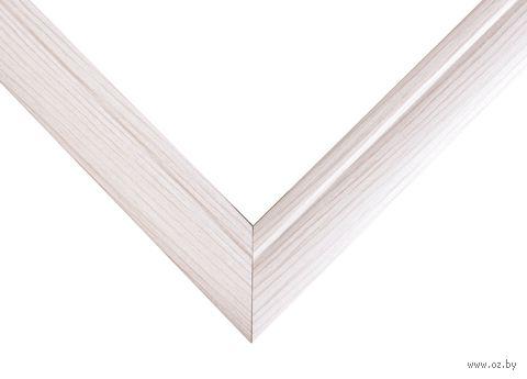 Рамка деревянная для картины по номерам (40х50 см; белая) — фото, картинка