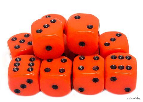 """Набор кубиков D6 """"Опак"""" (12 мм; 12 шт.; оранжевый) — фото, картинка"""