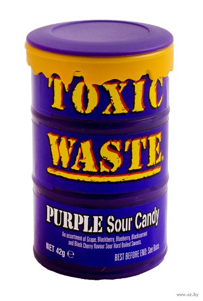 "Леденцы ""Toxic Waste. Purple. Ассорти"" (42 г) — фото, картинка"