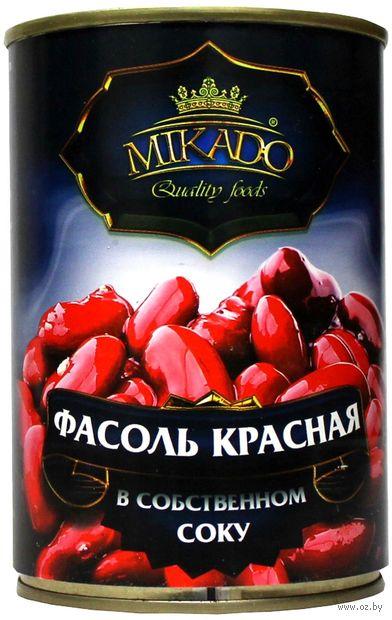 """Фасоль красная """"Mikado"""" (425 мл) — фото, картинка"""
