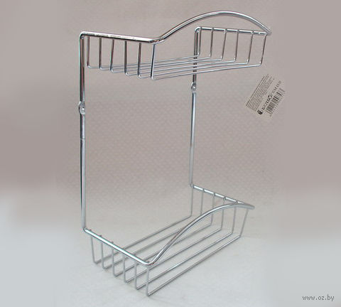 Полка для ванной металлическая 2-ярусная (330х228х127 мм)