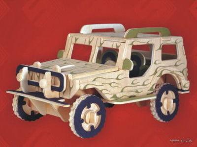 """Сборная деревянная модель """"Внедорожник"""" (Джип) — фото, картинка"""