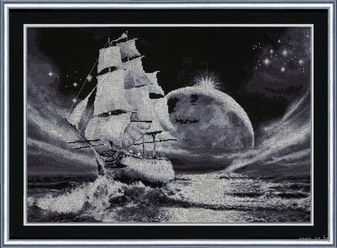 """Вышивка крестом """"Лунный путь"""""""