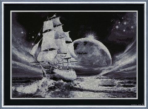 "Вышивка крестом ""Лунный путь"" (379х549 мм) — фото, картинка"
