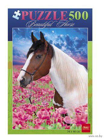 """Пазл """"Лошадь в цветах"""" (500 элементов)"""