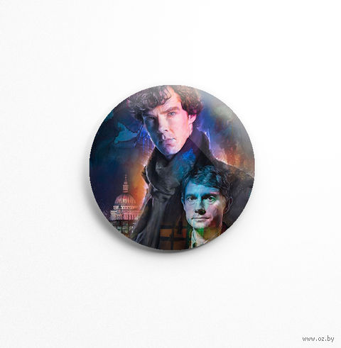 "Значок маленький ""Шерлок"" (арт. 572) — фото, картинка"