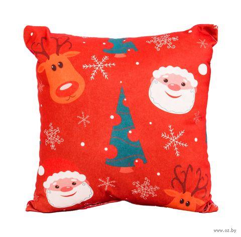 "Подушка ""Christmas"" (35х35 см; арт. 10-562) — фото, картинка"
