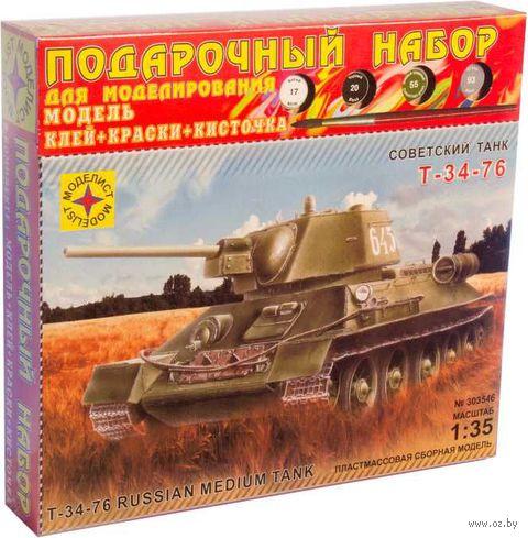 """Подарочный набор """"Танк Т-34-76 обр. 1942 г."""" (масштаб: 1/35) — фото, картинка"""