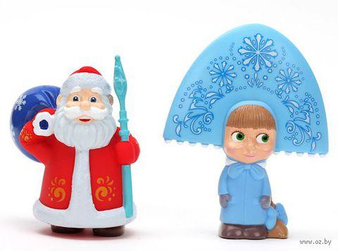 """Набор игрушек для купания """"Маша и Медведь. Дед Мороз и Снегурочка"""" (2 шт)"""