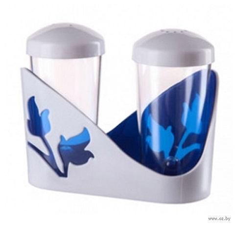 """Набор для специй """"Viola"""" (синий полупрозрачный) — фото, картинка"""