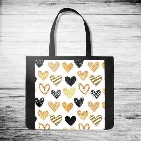 "Сумка-шоппер ""Hearts"" — фото, картинка"