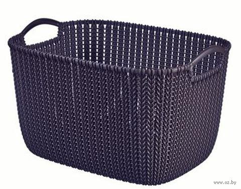 """Корзина """"Knit L"""" (фиолетовая) — фото, картинка"""