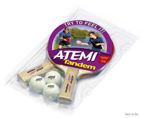 "Набор для настольного тенниса ""Tandem"" (2 ракетки+3 мяча; 1 звезда) — фото, картинка"