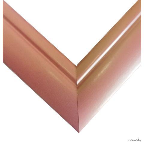 """Рамка деревянная для картины по номерам """"Дрезден"""" (40х50 см; розовая) — фото, картинка"""
