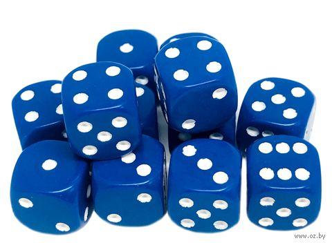 "Набор кубиков D6 ""Опак"" (12 мм; 12 шт.; синий) — фото, картинка"