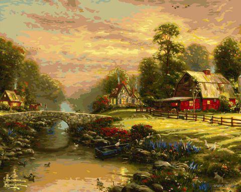 "Картина по номерам ""Закат на ферме"" (410х510 мм; арт. PLD-21791)"