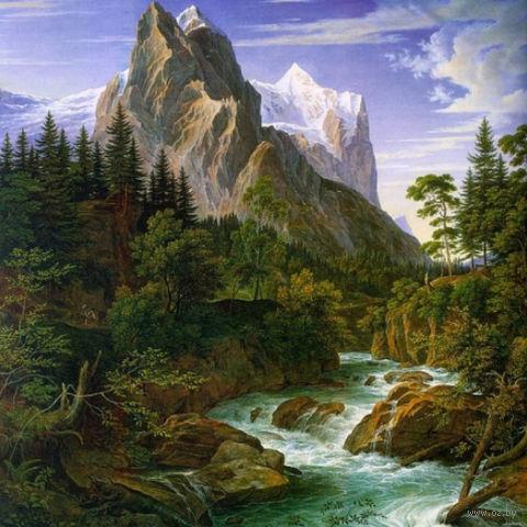 "Алмазная вышивка-мозаика ""Река у подножья горы"""