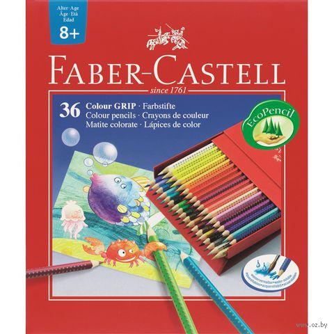 Цветные карандаши GRIP 2001 в студийном футляре (36 цветов)