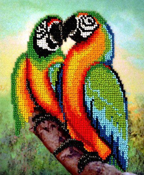 "Вышивка бисером ""Попугаи"" (165х200 мм) — фото, картинка"