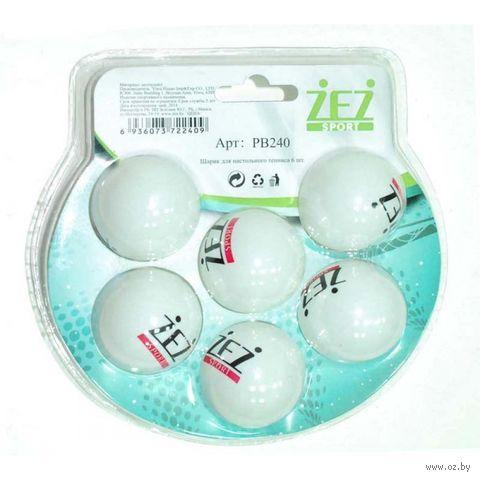 Мячи для настольного тенниса (6 шт.; арт. PB240) — фото, картинка
