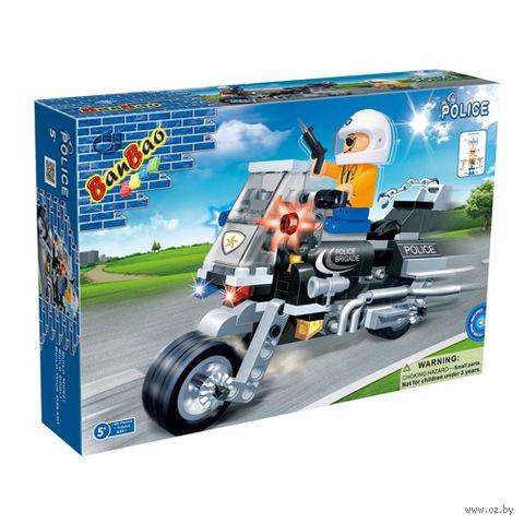 """Конструктор """"Полицейский на мотоцикле"""" (140 деталей)"""