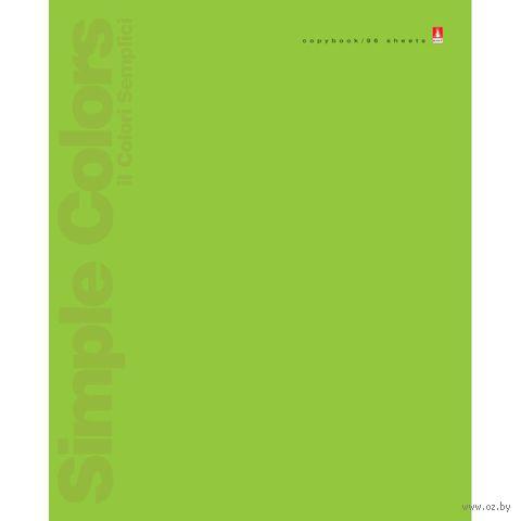 """Тетрадь общая в клетку """"Простые цвета"""" (96 листов; в ассортименте) — фото, картинка"""